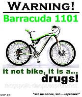 Велосипед Barracuda 1101 горный MTB-Freeride, двухподвесный, 24 скорости,