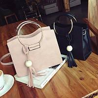 Каркасная женская сумка с круглыми ручками, цвета в наличии