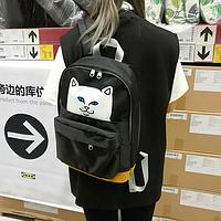 Рюкзак с веселым принтом кота