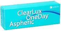 Однодневная контактная линза Clearlux One Day Aspheric, упаковка 30 шт, Sauflon