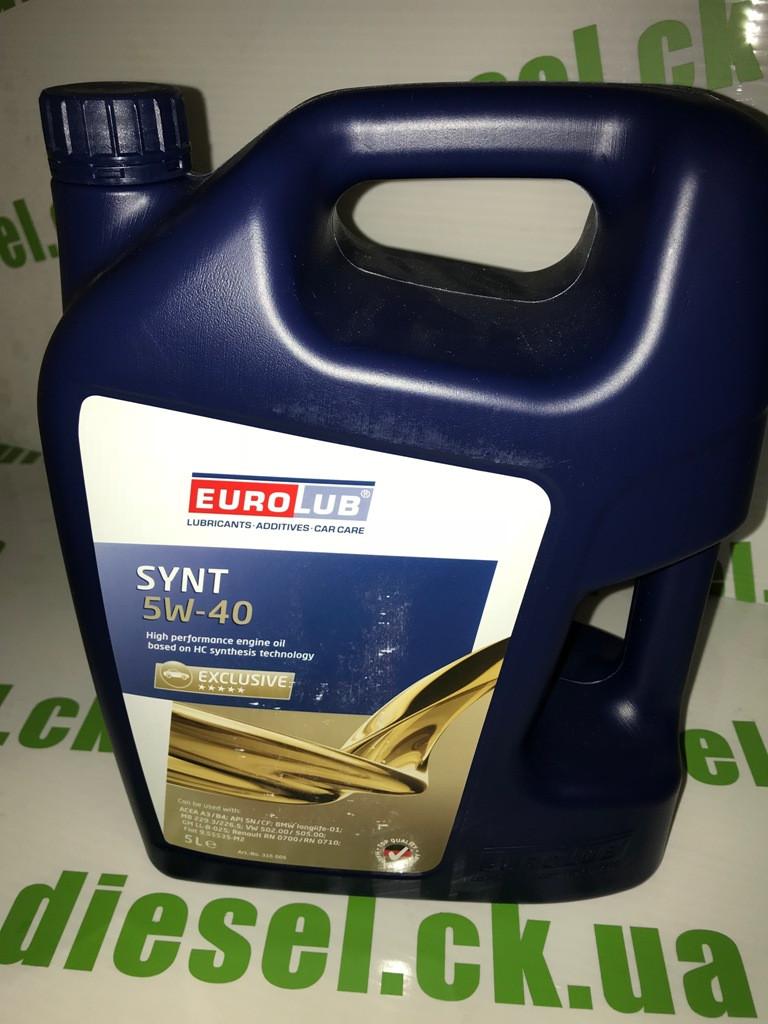 Масло моторное Eurolub 5w40 SYNT 5L RN0700/RN0710; FIAT 9.55535-M2