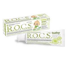 Зубна паста R. O. C. S. baby запашна ромашка Вік від 0 до 3 років