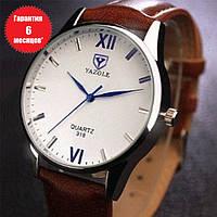 Кварцевые часы Yazole (brown-white)