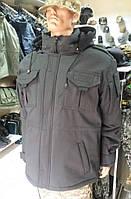 Куртка тактическая с капюшоном серии «Stratаgem М.802» (черная)