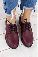 Оригинальные оксфорды женские кожаные в 2х RS 1722 кожа, фото 1