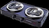 Электроплита ЭЛНА 200 двухконфорочная спиральная (2 узких ТЭНа)