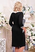 Женское осеннее платье Притяжение цвет черный размер 52-62 / большие размеры , фото 2