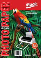 Фотобумага Magic A4 Glossy Photo Paper 135g 100лис