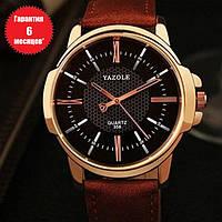 Кварцевые часы Yazole (black-brown)