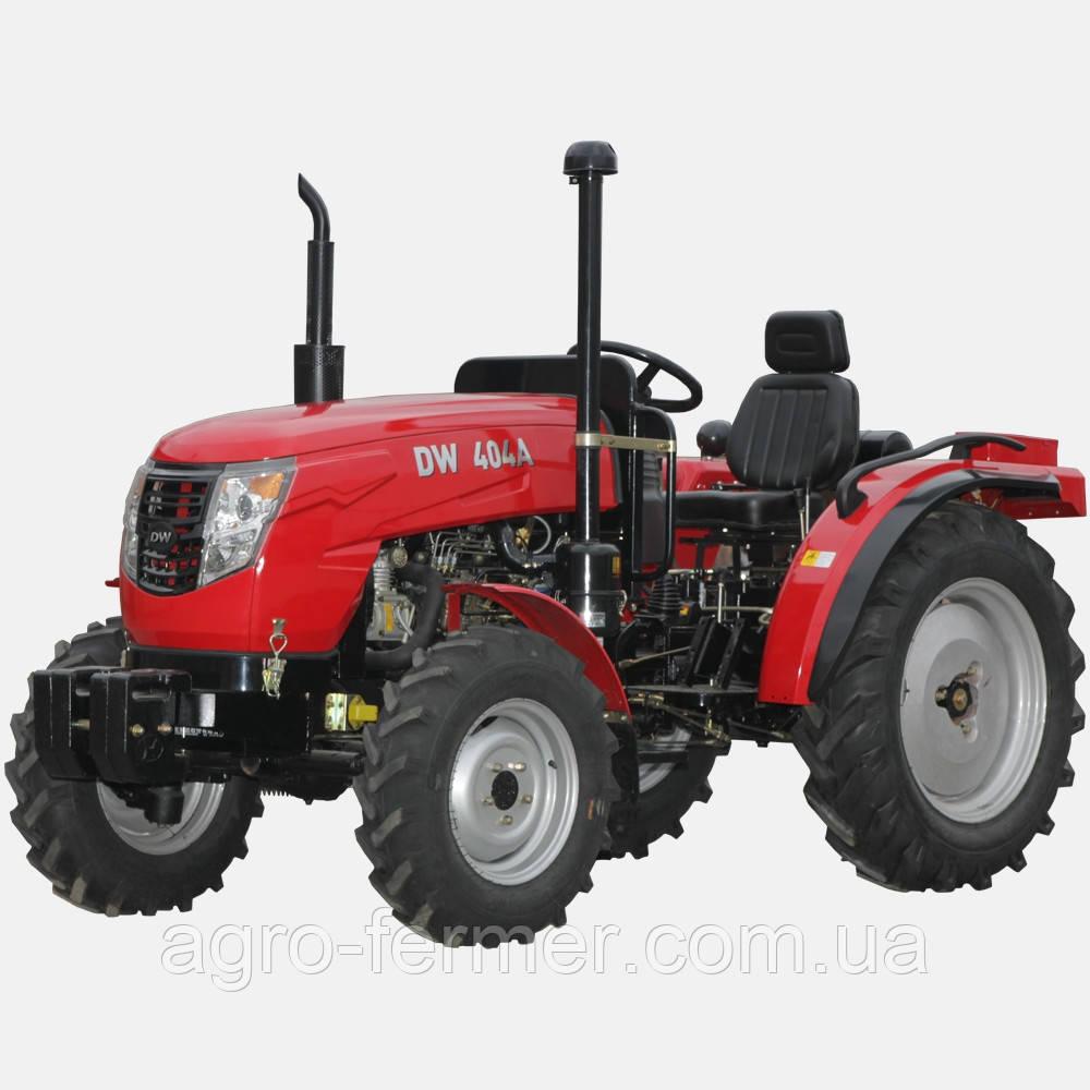 Трактор DW 404 A (4 цил, 2 гидровыхода, компрессор, сиденье на пружине, доп. грузы, 7,50-16/11,2-24)