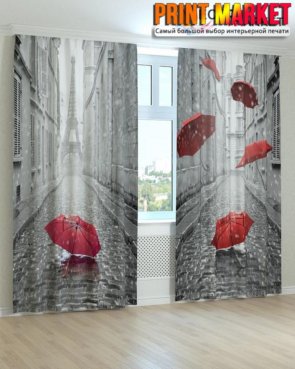 Фотошторы красные зонты