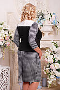Женское прямое, прилегающее платье Лидия цвет черный размер 52-62 / большие размеры , фото 2
