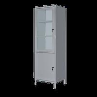 Шкаф медицинский ШМ-1С однодверный одностворчатый с сейфом