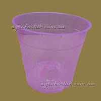 Вазон  розовый прозрачный для орхидеи D15 см