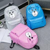Большой тканевой рюкзак мишка, цвета в наличии