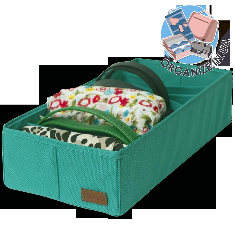 Коробочка для хранения носков/колгот/ремней ORGANIZE (лазурь)