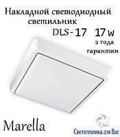 Накладной светодиодный светильник LED  Marella: DLS-17 17w белый универсальный свет