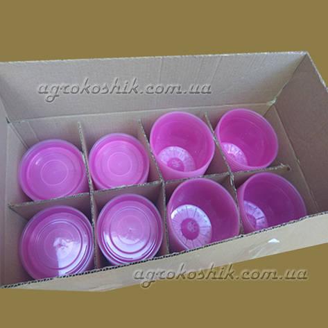 Вазон  розовый прозрачный для орхидеи D15 см, фото 2