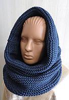 Снуд-шарф  вязаный объемный женский