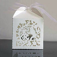 Красивые свадебные бонбоньерки с птичкой (арт. FB-100)