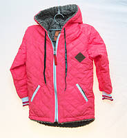 Демисезонная стёганая куртка Cokpag kids розовая 5-6 лет