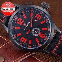 Кварцевые часы Naviforce (black-red)