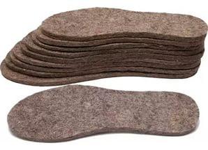 Стелька для обуви войлочная ( 39 размер )