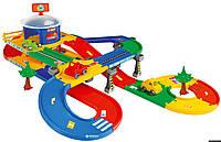 Детский Трек Гараж С Трассой 53130 Wader, Мега Гараж с трассой 5,5 м, 53130