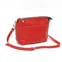 Женская кожаная сумка через плечо 21 KF Красная