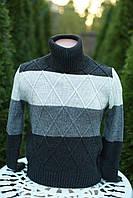 Подростковый зимний свитер под горло