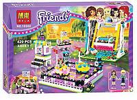 """Конструктор Bela 10560 (аналог Lego Friends 41133) """"Парк развлечений: Аттракцион Автодром"""", 429 деталей"""