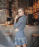 Платье новая коллекция норма бордо, серый