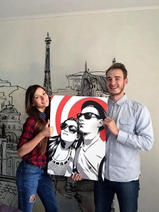 Заказать портрет на холсте по фотографии в Днепре