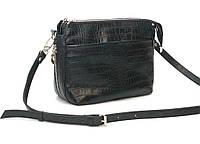 Женская кожаная сумка через плечо 21 HJ Черная