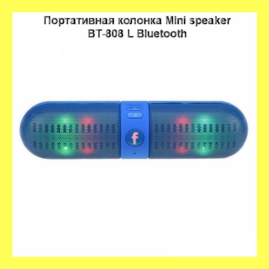 Портативная колонка Mini speaker BT-808 L Bluetooth!Акция