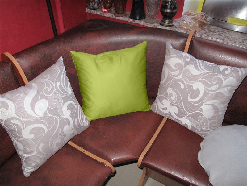 Декоративная подушка квадратная Марселла+Салатовый