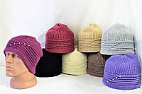 Вязаная женская шапка №2 (уп. 10 шт.)