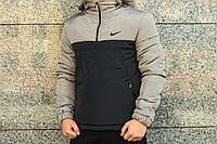 Анорак Intruder Nike, серо-чёрный, фото 1