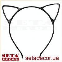 Ушки Кошка маленькие чёрные на обруче