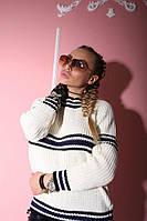 Женский модный вязаный шерстяной свитер ( 2 цвета)