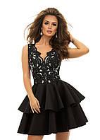 Шикарное платье с гипюром и пышной юбкой 42,44,46