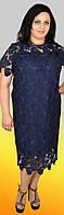 Универсальное деловое/вечернее платье в полуприлегающем крое, большие размеры