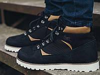 Мужские зимние синие ботинки Staff NORTH navy D203
