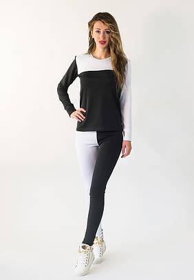 Жіночий чорно-білий спортивний костюм Ketrin