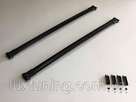Универсальные аэродинамические поперечки на продольные рейлинги, ширина 1 метр, цвет черный