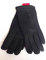 Женские перчатки трикотаж/кролик, черные (6,5-8,5)