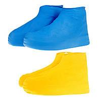 Водонепроницаемые антискользящие чехлы для обуви от дождя! Бахилы накладки от дождя и грязи!, фото 1