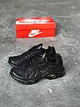 Кроссовки Nike Air Max Tn+ plus black. Топ качество! Живое фото (Реплика ААА+), фото 3