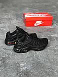 Кроссовки Nike Air Max Tn+ plus black. Топ качество! Живое фото (Реплика ААА+), фото 4