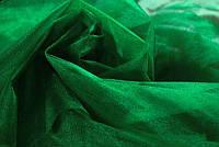 Фатин середньої жорсткості, зелений колір, ширина 3 м